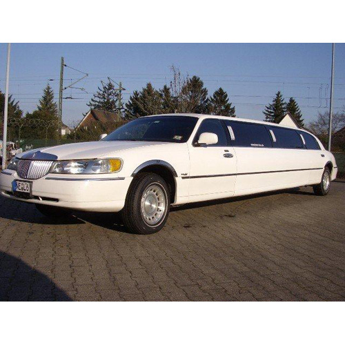 Stretchlimousine Lincoln weiss f�r 8 Personen